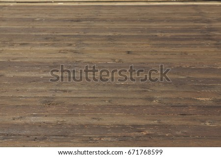 Weathered old hardwood decking, Wood floor texture background, selective focus and soft background #671768599