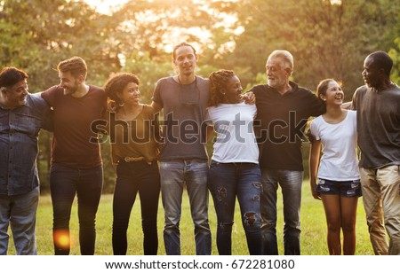 Group of Diversity People Teamwork Together Royalty-Free Stock Photo #672281080
