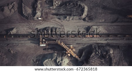 Coal mining from above #672365818