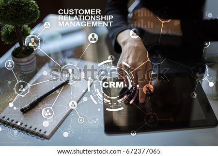 CRM. Customer relationship management concept. Customer service and relationship. #672377065