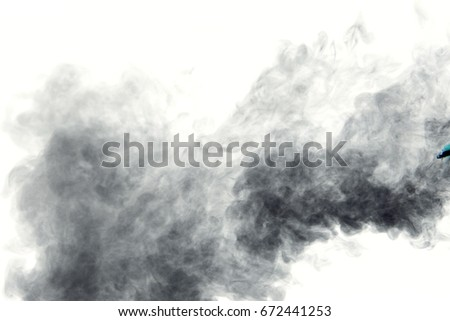 Smoke background / Smoke is a collection of airborne solid and liquid particulates and gases emitted when a material undergoes combustion #672441253