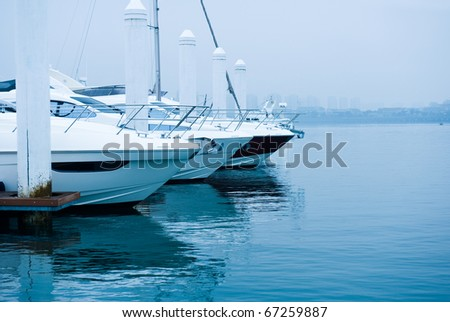 yachts moored at Marina on a summer day. #67259887