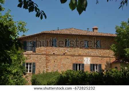We stopped by to visit a winery in Tuscany and enjoyed a perfect lunch in the countryside. #672825232