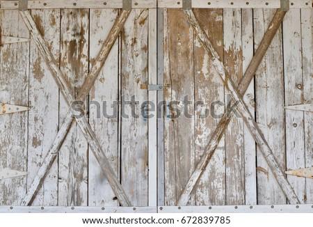 Distressed wood barn door panels
