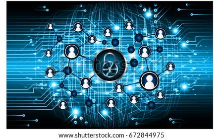 Social media network concept. design future technology vector. key #672844975