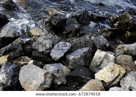 Rocks on the beach  #672874018