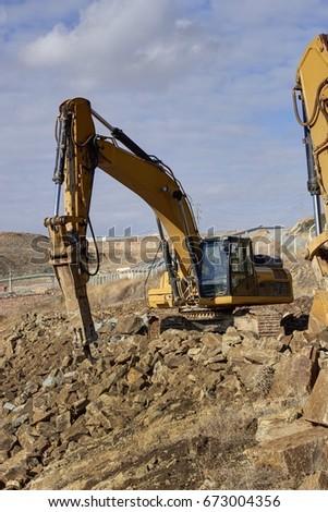 Bulldozer,Bulldozer in the process #673004356