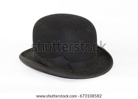 Gentleman's Bowler Hat on White Background #673108582