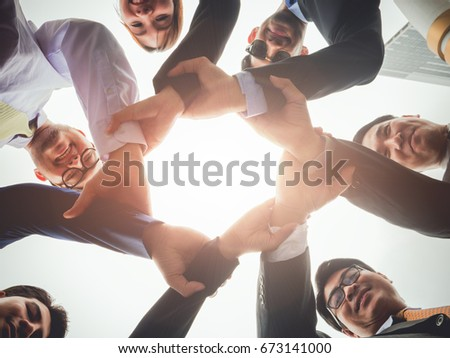 Group of Diverse business people teamwork concept #673141000