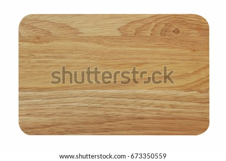 Cutting board isolated on white background with clipping path. #673350559
