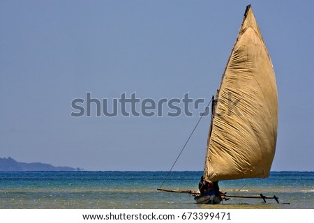 a boat for fish in nosy be madagascar #673399471