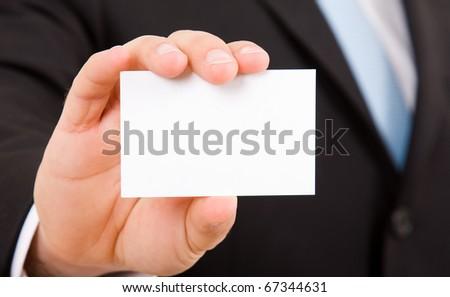 hand of businessman offering businesscard