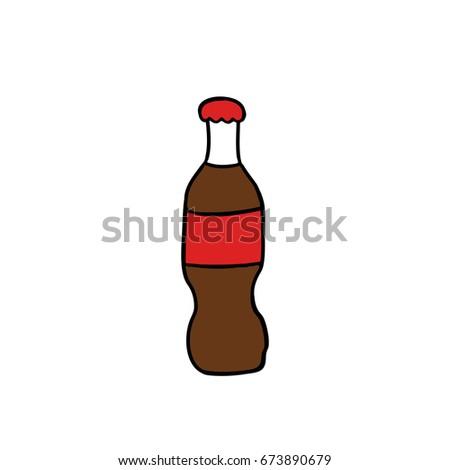 soda drink doodle icon #673890679