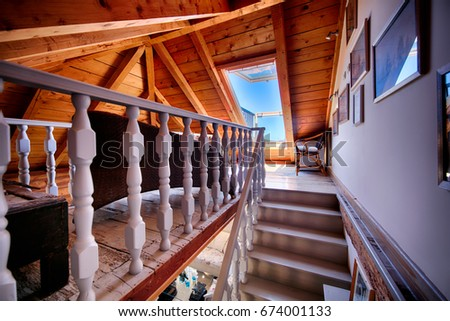 KOMIZA (VIS), CROATIA - MAY 15, 2017: - Traditional old Dalmatian house will charm you with its modern interior design made of stone and wood. #674001133