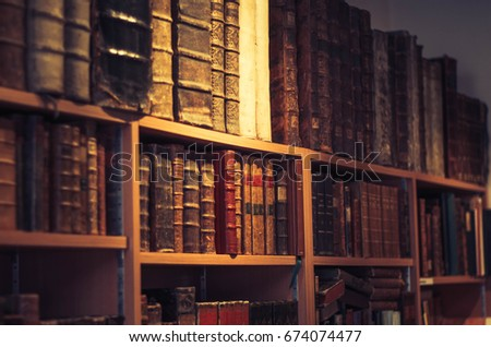 Old book store photography #674074477