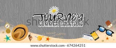 Summer holiday vacation concept, Journey vector illustration #674264251