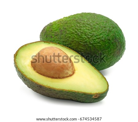 Avocado isolated on a white background #674534587