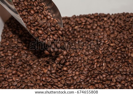 Coffee Beans, Stainless Steel Metal Scraper Scoops Shovel #674655808