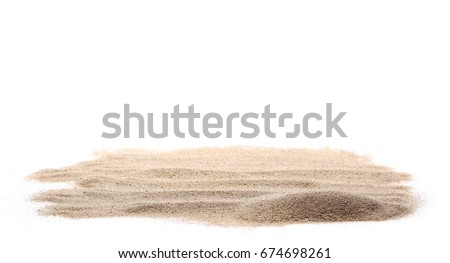 pile dry desert sand isolated on white background Royalty-Free Stock Photo #674698261
