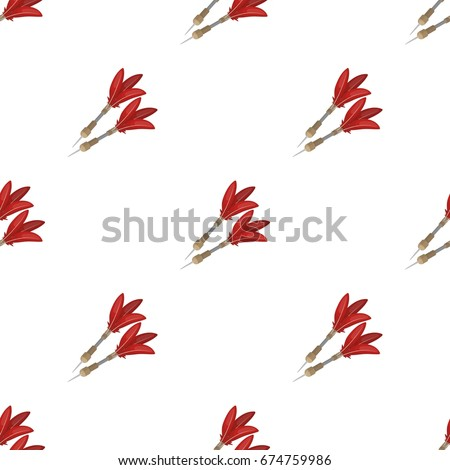 Darts for the wind gun.African safari single icon in cartoon style vector symbol stock illustration web.