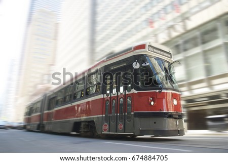 TTC Streetcar Royalty-Free Stock Photo #674884705