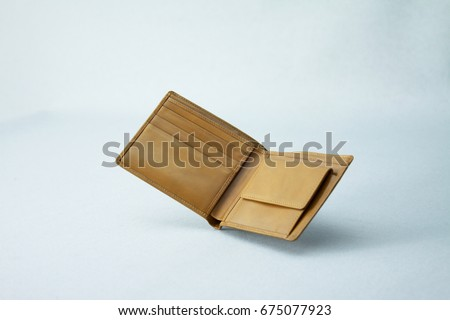 Leather men's bifold wallet Royalty-Free Stock Photo #675077923