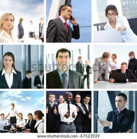 Business collage of some different images #67523929