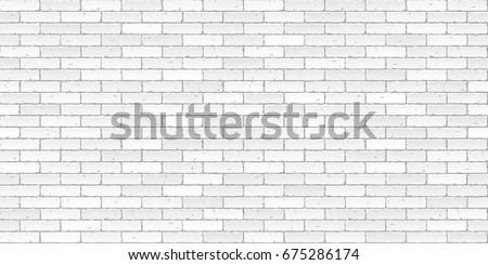 White brick wall texture seamless vector illustration #675286174