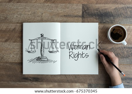 WOMAN RIGHTS CONCEPT #675370345