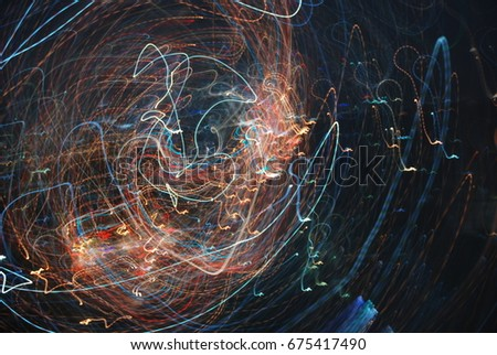 Light painting art abstract background #675417490