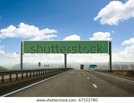 billboard on the highway. Skyline