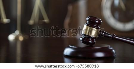 Symbol of Law on Lawyer's desk #675580918