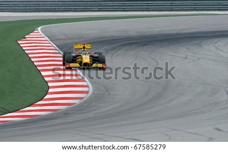 SEPANG, MALAYSIA - APRIL 2 : Renault Racing Team Driver, Robert Kubica action on track in Petronas Formula One 2010 at Sepang circuit. April 2, 2010 in Sepang, Malaysia #67585279