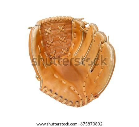 Baseball glove isolated on white background Royalty-Free Stock Photo #675870802