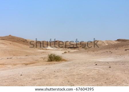 View on Judean desert landscape not far from Metzoke Dragot village. #67604395