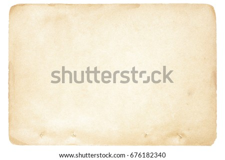 Isolated old brown paper texture #676182340