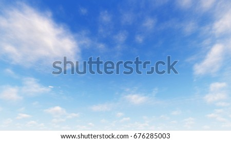 Cloudy blue sky abstract background, blue sky background with tiny clouds, 3d illustration #676285003