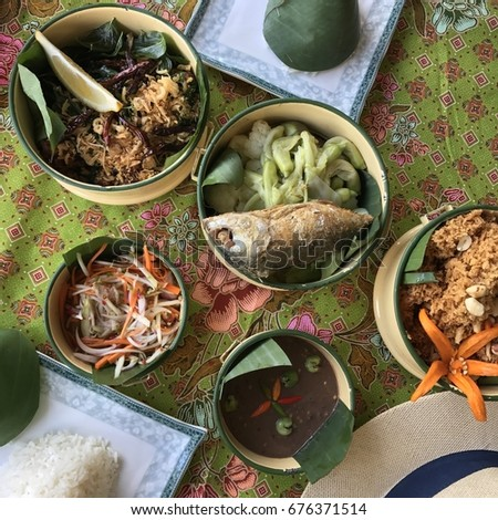 Thai foods, local foods, street foods, chantaburi thailand #676371514