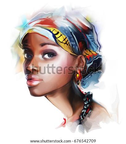 young beautiful fashion african woman