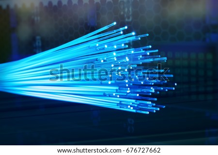 fiber optic cables Royalty-Free Stock Photo #676727662