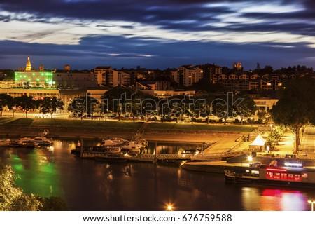 Panorma of Angers. Angers, Pays de la Loire, France. #676759588