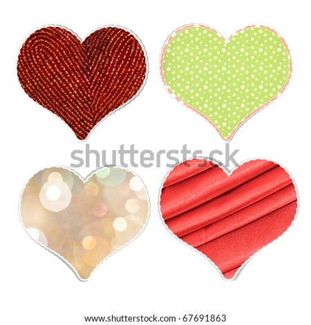 heart stickers file has clipping path