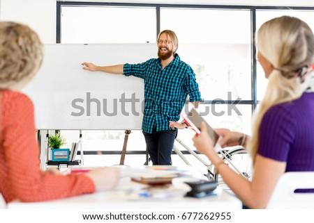 Presentation in office #677262955