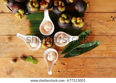 Mangosteen fruit is delicious  #677313001