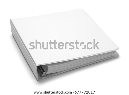 File Folder Binder with Copy Space Isolated on White Background. Royalty-Free Stock Photo #677792017