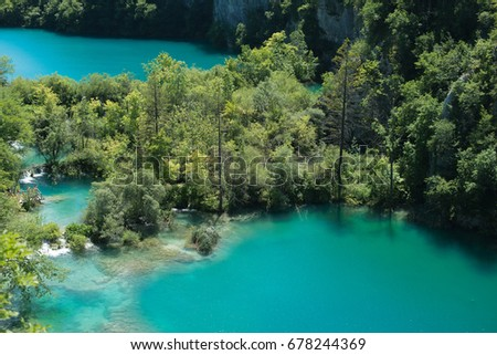 National Park Plitvice Lakes view #678244369