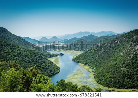 Valley of Crnojevici River, Montenegro #678321541