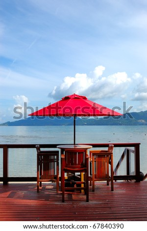Outdoor restaurant at the luxury hotel, Phuket, Thailand #67840390