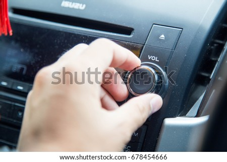 Adjust the car stereo #678454666