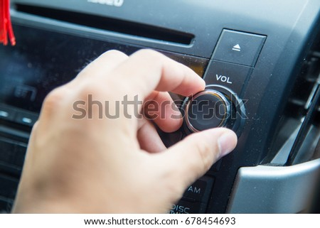 Adjust the car stereo #678454693